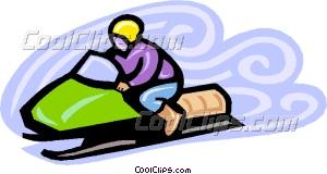 300x160 Snowmobile Vector Clip Art