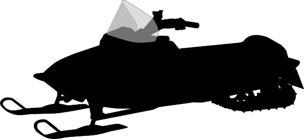 600x275 Snowmobile Silhouette Clip Art
