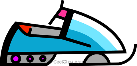 480x232 Snowmobiling Royalty Free Vector Clip Art Illustration Vc106509
