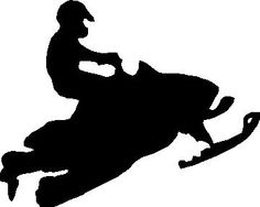 236x188 Snowmobile Crossing Silhouette