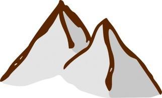 322x195 Mountains Black And White Snowy Mountain Clipart Kid