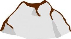 243x135 Snowy Mountain Clip Art, Vector Snowy Mountain