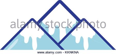 450x213 Snowy Mountain Vector Illustration Stock Vector Art Amp Illustration