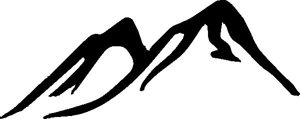 600x239 Drawn Mountain Silhouette