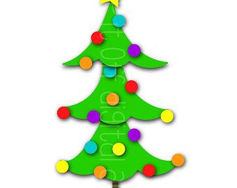 340x270 Christmas Tree Art Etsy