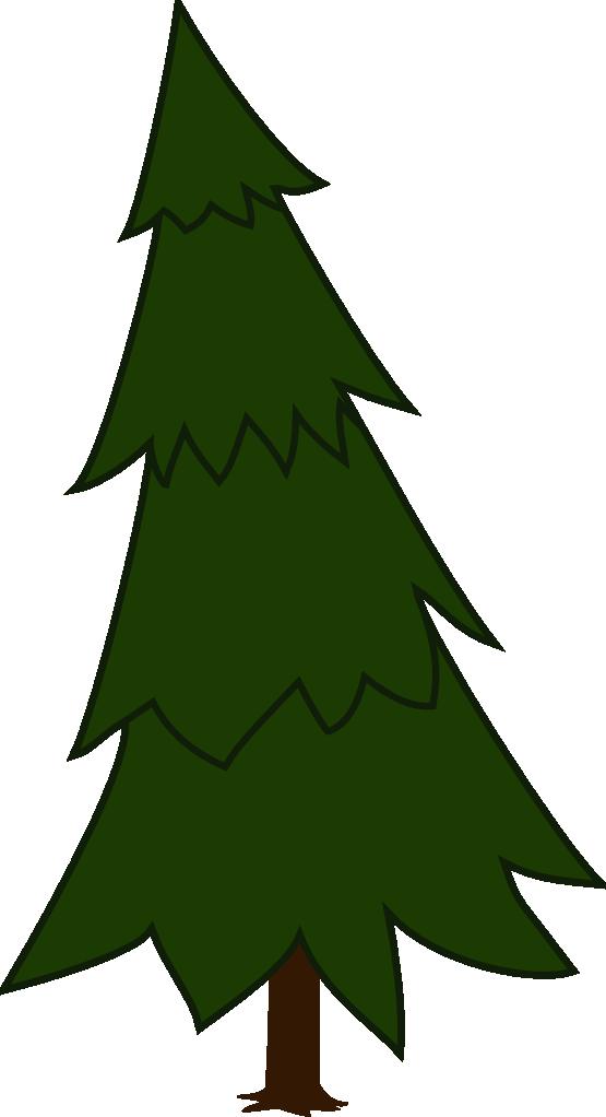 555x1022 Pine Tree Clipart Animated