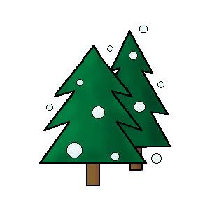 300x300 Snow On Tree Clipart