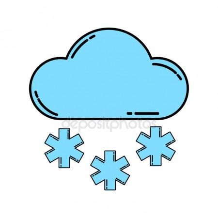 450x450 Snowy Weather Icon Stock Vector Bowxwod