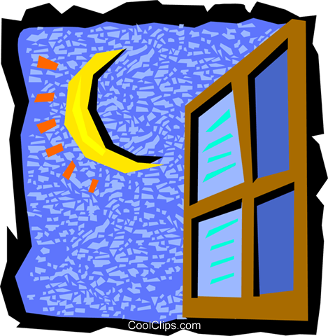 469x480 Night Sky Clipart Night Window