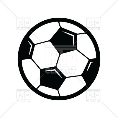 400x400 Soccer ball icon on white background Royalty Free Vector Clip Art