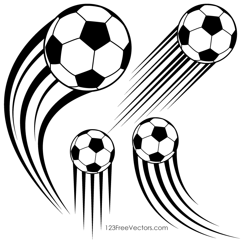 800x800 Soccer ball in motion clipart freevectors