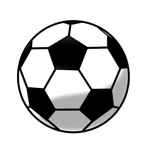 500x500 Soccer ball vector clip art graphics Public domain vectors