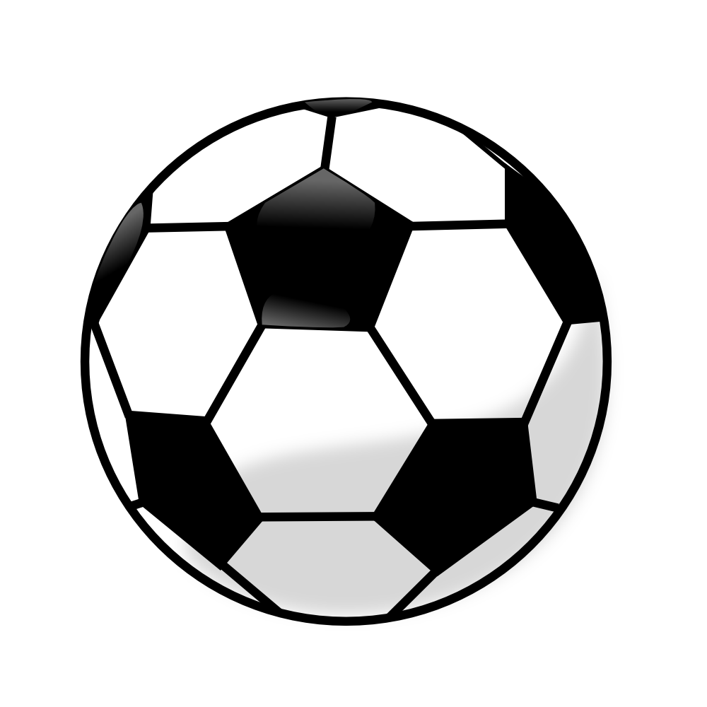 1000x1000 Transparent Soccer Ball Clipart