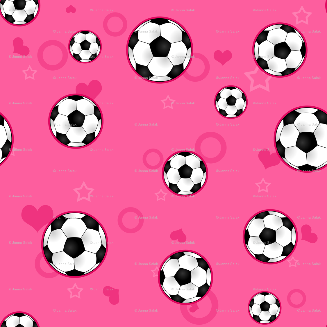 1125x1125 Soccer Ball Pattern Pink wallpaper