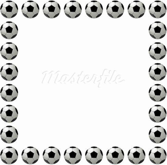 550x544 Soccer Border Clipart