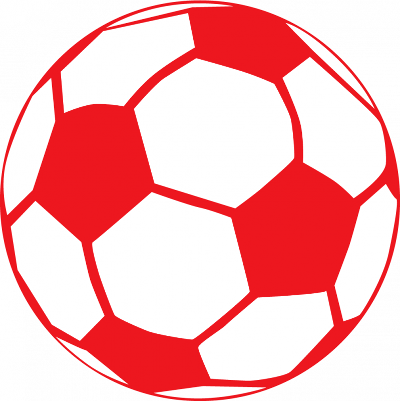 799x800 Red Soccer Ball Clip Art
