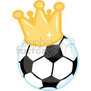 300x300 Royalty Free Soccer Ball With Crown 379693 Vector Clip Art Image