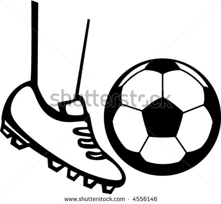 450x415 Soccer Ball And Cleats Clipart