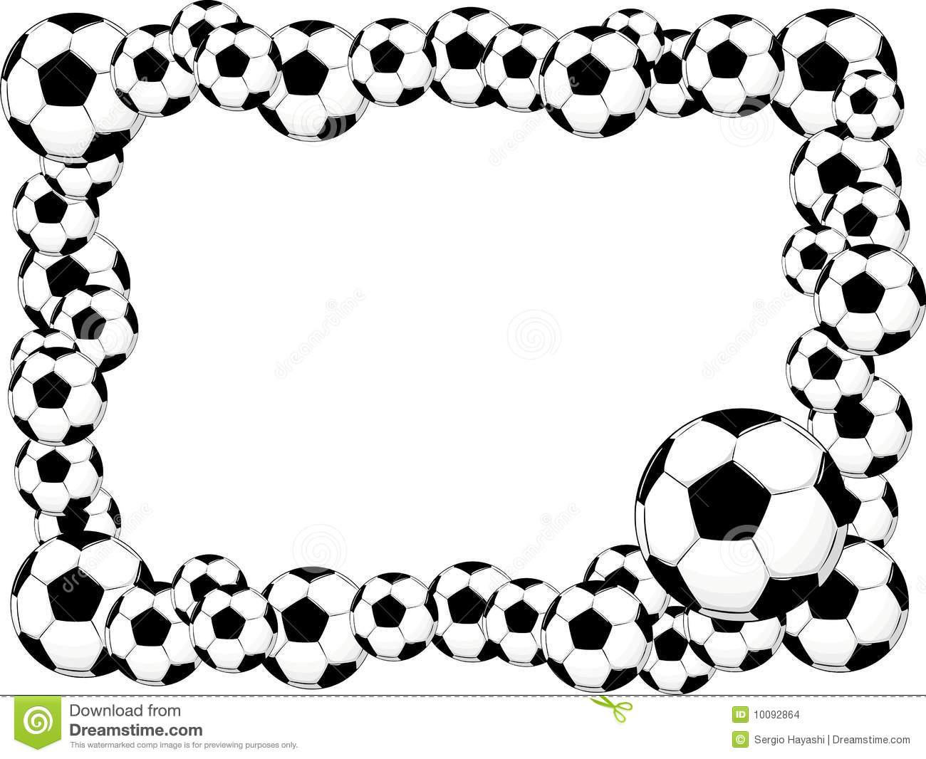 1300x1066 Soccer Clipart Borders