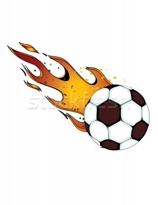 309x400 Flaming Soccer Ball Clip Art