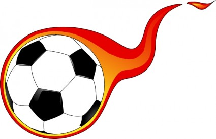 425x274 Flaming soccer ball clip art free vector in open office drawing