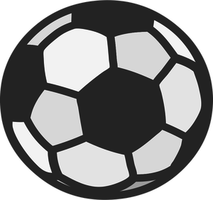 300x282 Free cartoon soccer ball clip art free vector for download