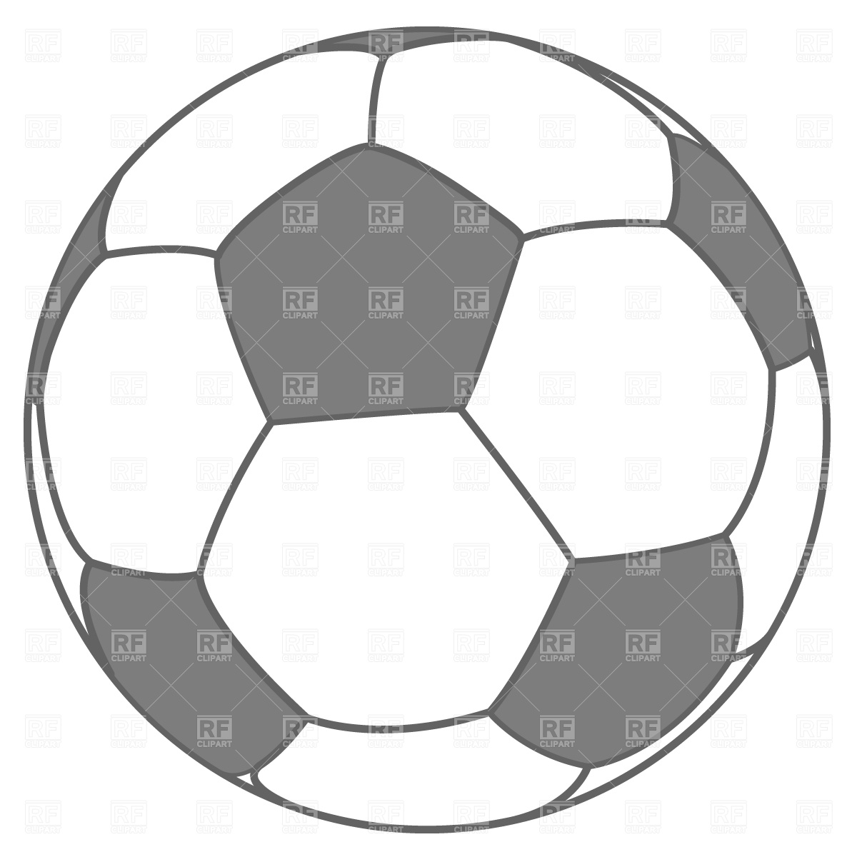 1200x1200 Soccer ball Royalty Free Vector Clip Art Image