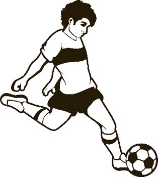 314x350 Clip Art Soccer