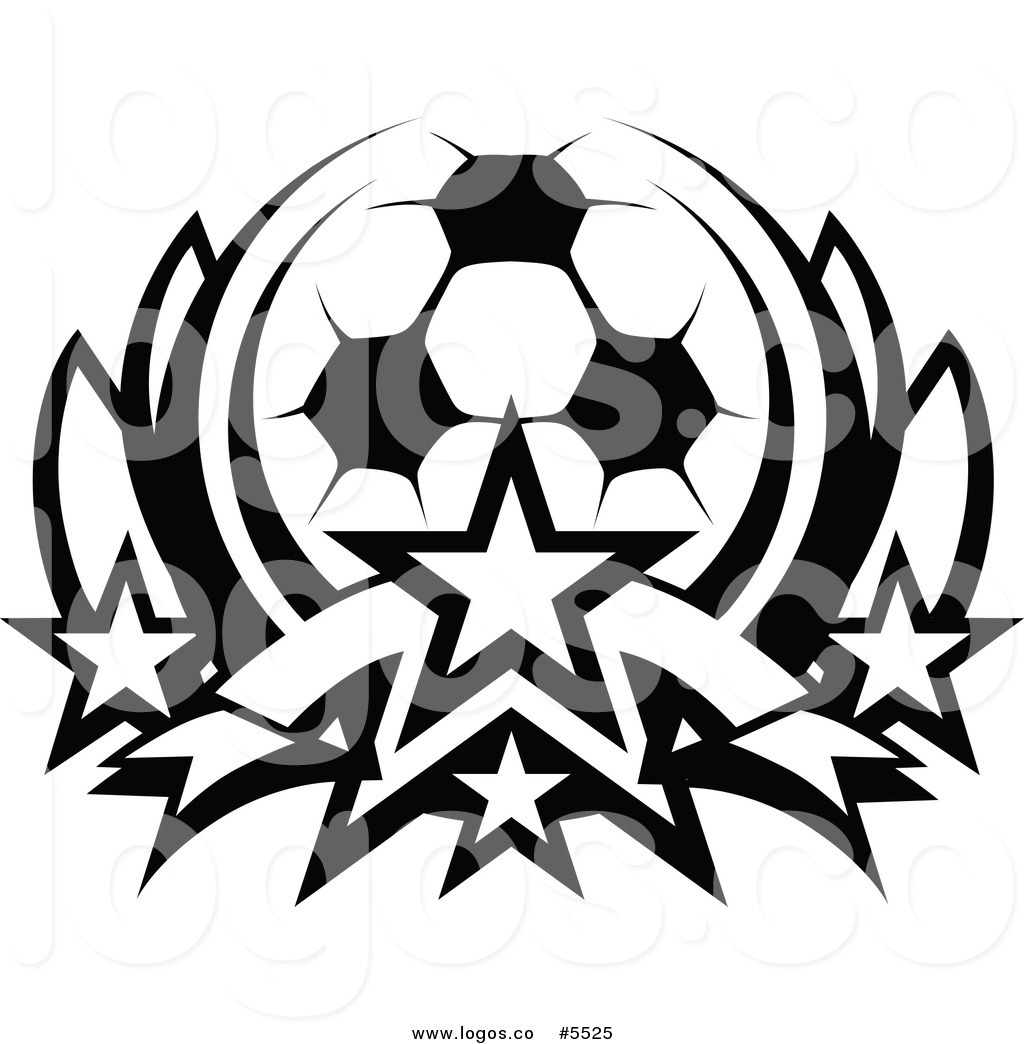 1024x1044 Royalty Free Vector Of A Logo Of A Black White Soccer Ball