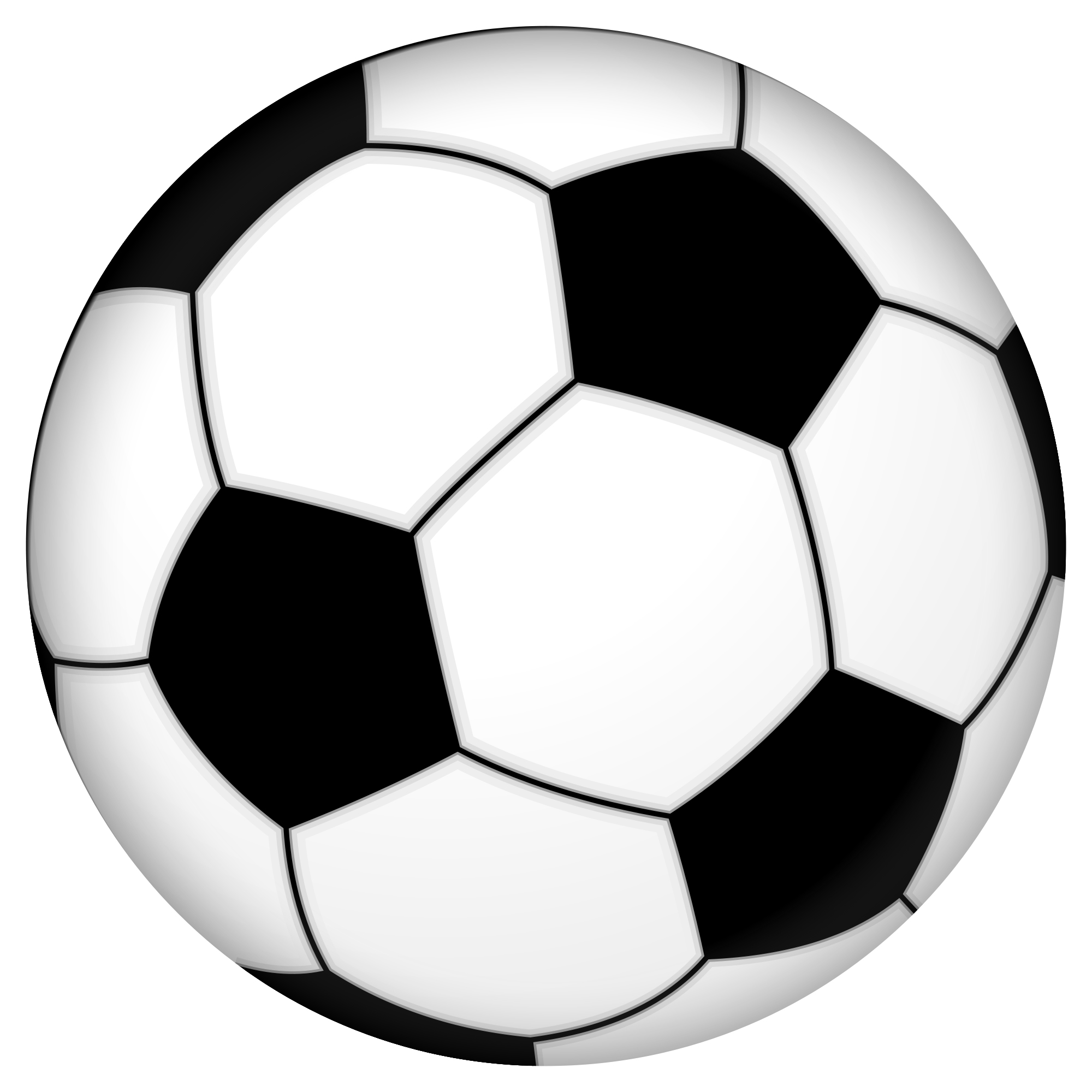 2000x2000 Soccer Ball Clip Art Black And White Free