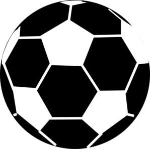 298x297 Black And White Soccer Ball Clip Art