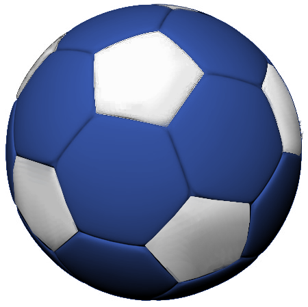 450x449 Free Blue Soccer Ball Clipart Image