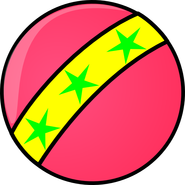 600x600 Free Pink Soccer Ball Clipart Image