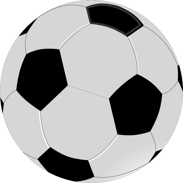 600x600 Free Soccer Ball Clipart Image