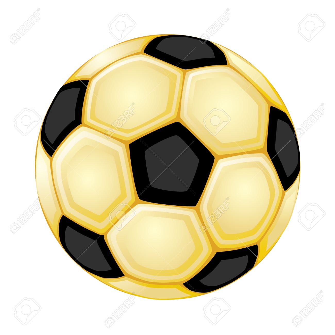 1300x1300 Gold Clipart Soccer Ball