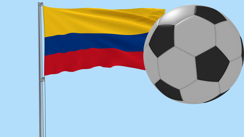 852x480 Realistic Fluttering Flag Of Peru And Soccer Ball Flying Around