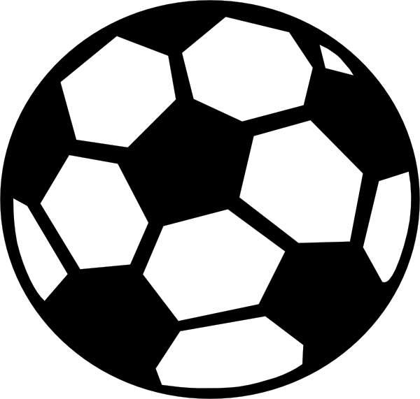 600x571 A Soccer Ball Clip Art