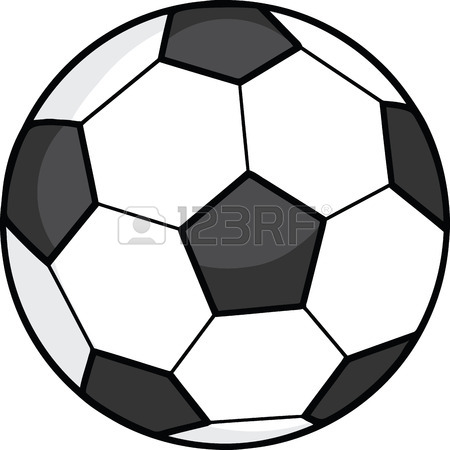 450x450 Healthy Red Heart Playing With Soccer Ball Royalty Free Cliparts
