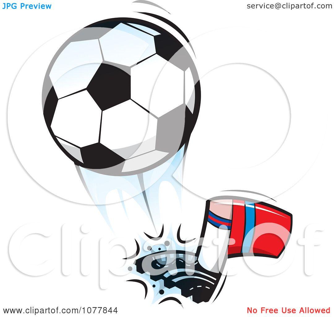 1080x1024 Clipart Player Kicking A Soccer Ball 1