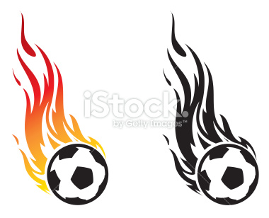 380x308 Flaming Soccer Ball Clipart