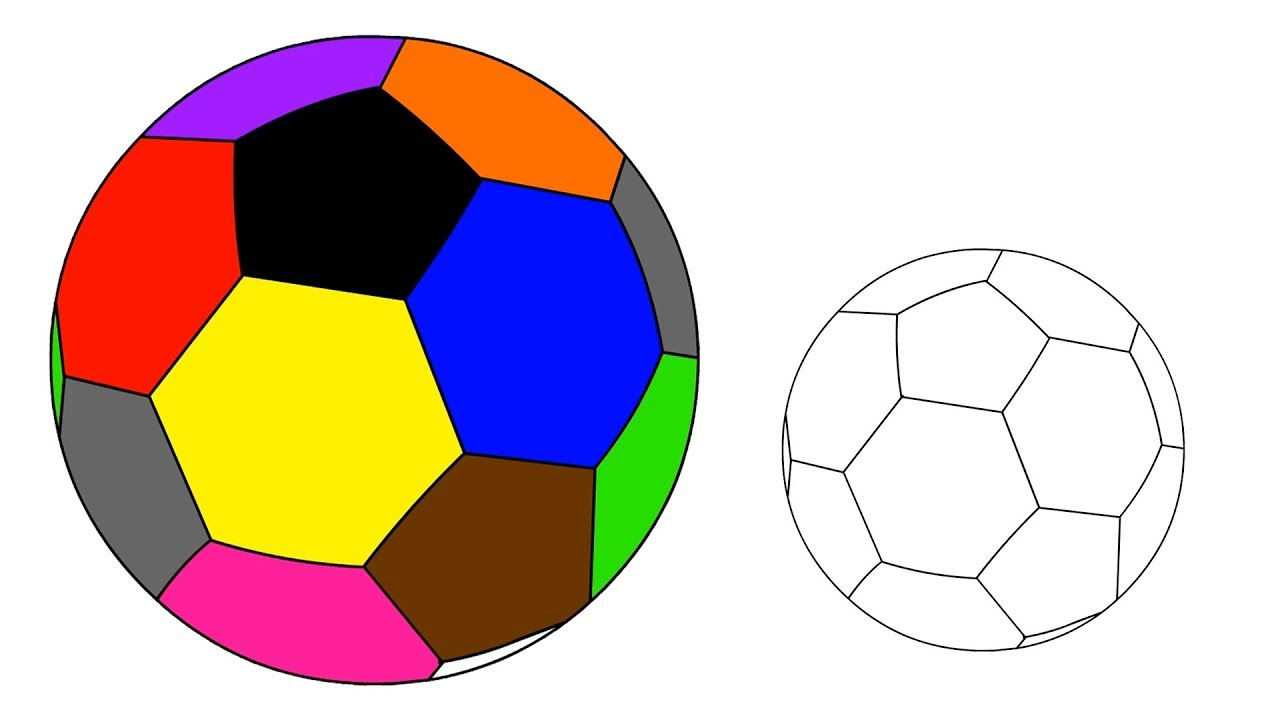 1280x720 How To Draw Soccer Ball Coloring Pages For Kids Toddlers Learn