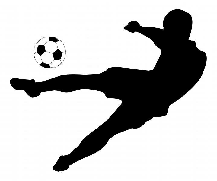719x600 Kicking Soccer Ball Clipart