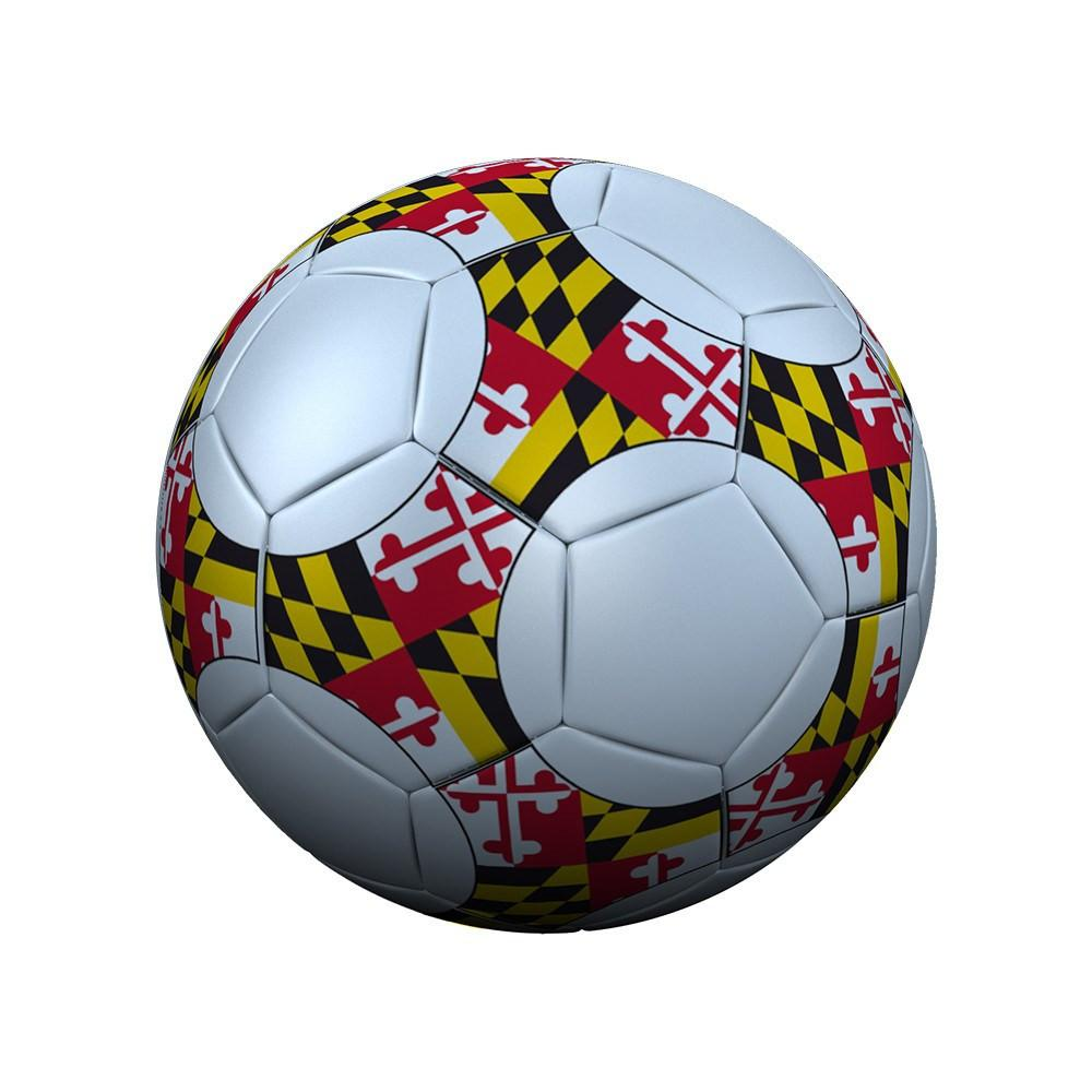 1000x1000 Maryland Flag Soccer Ball Route One Apparel