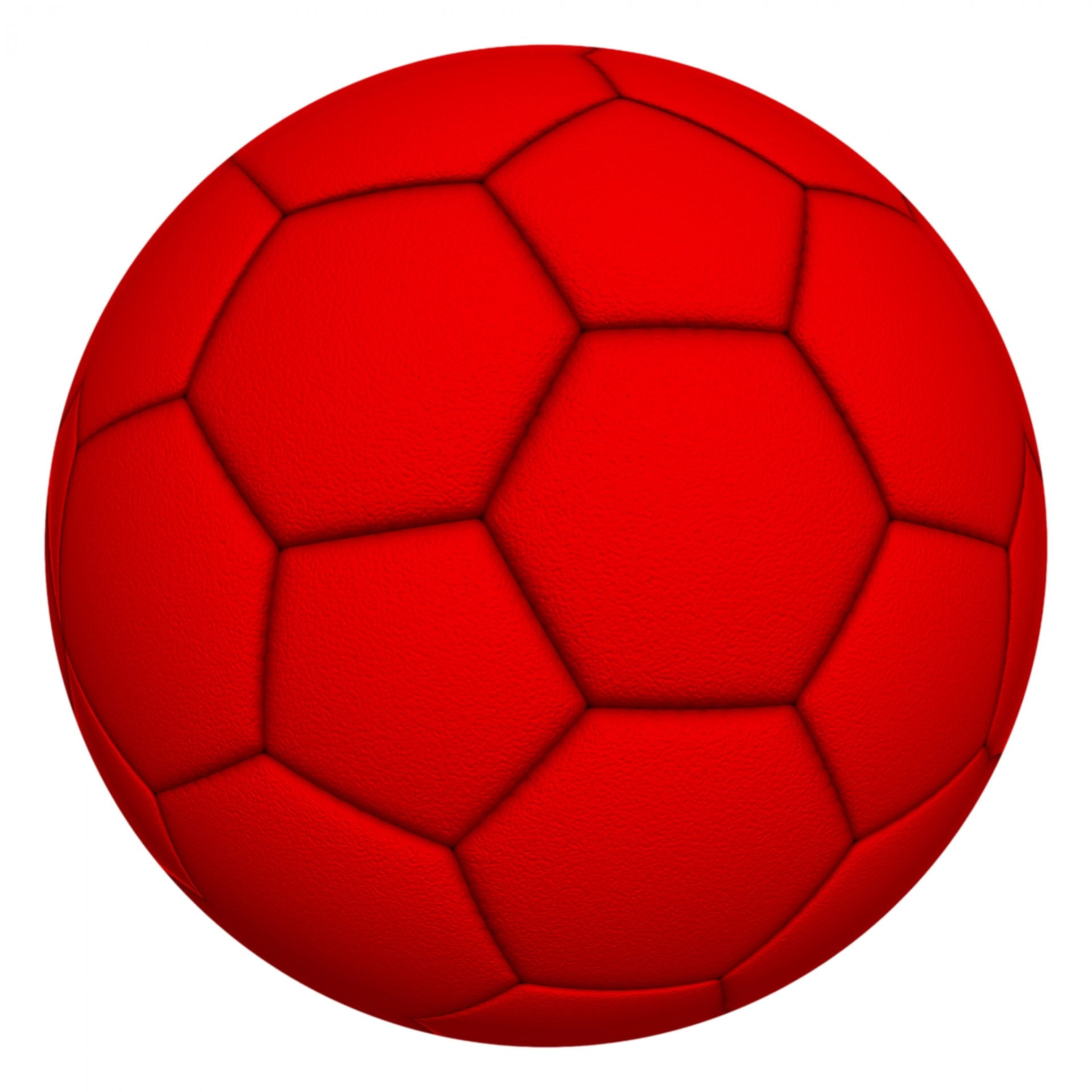 1920x1920 Red Soccer Ball Free Stock Photo
