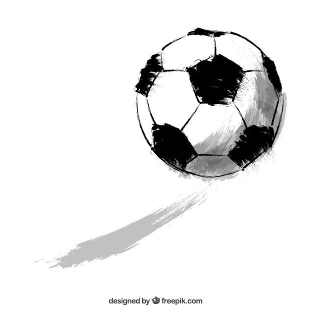 626x626 Sketchy soccer ball Vector Free Download