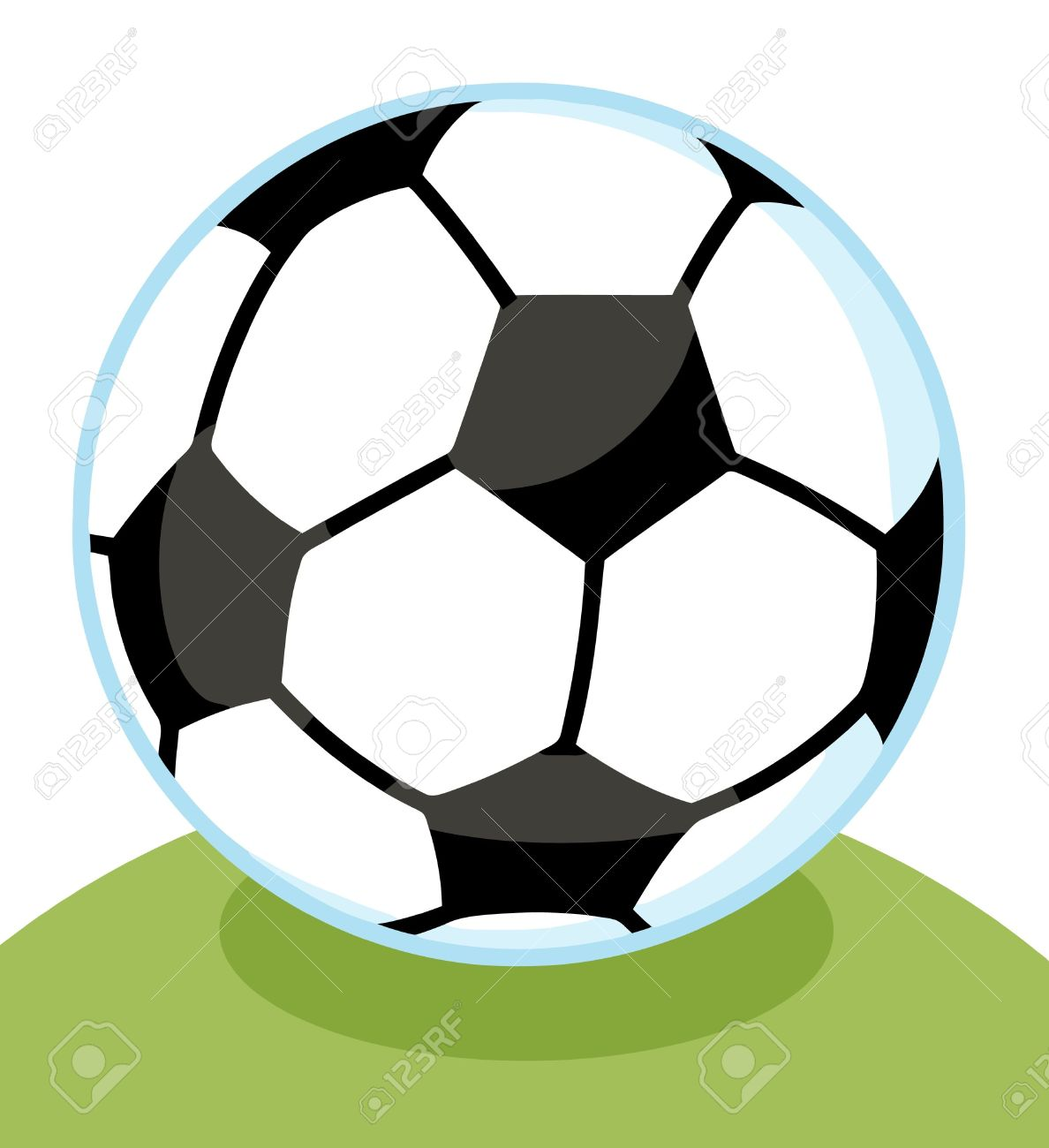 1188x1300 Soccer Ball In Grass Clipart