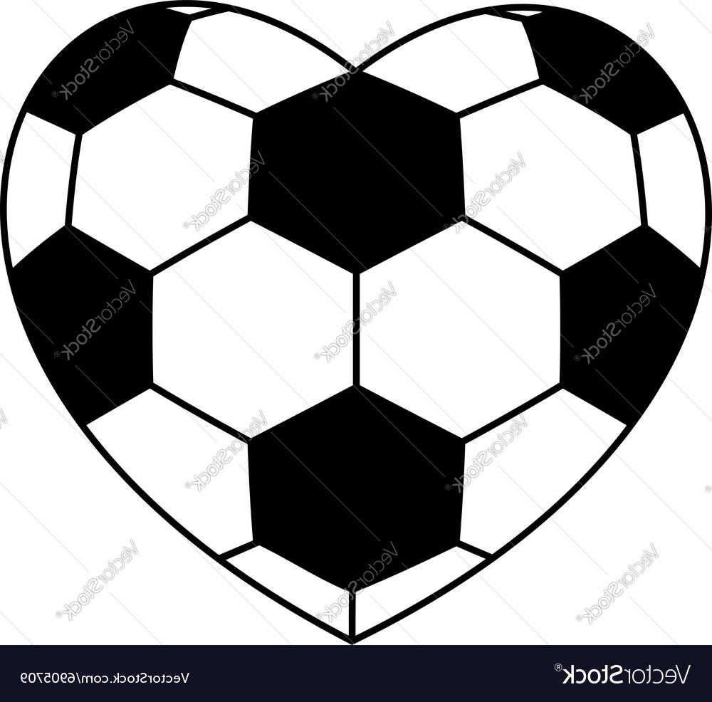 1000x986 Unique Soccer Ball Heart Vector File Free