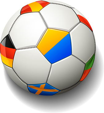 338x368 Vector color soccer ball free vector download (23,281 Free vector