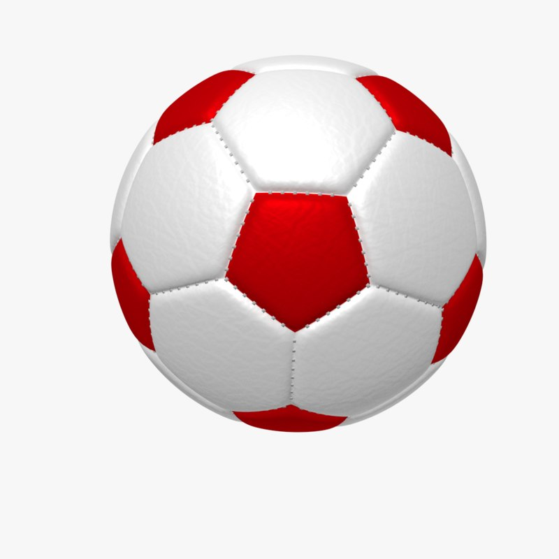 800x800 soccer football ball 3d model