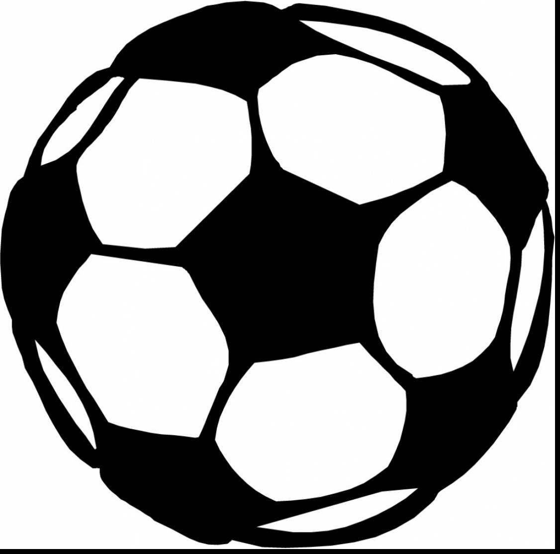 1126x1114 Brilliant Soccer Player Outline With Soccer Ball Coloring Page